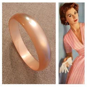 Vintage Peach Moonglow Bangle Bracelet Lucite